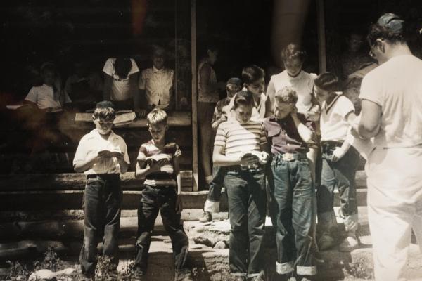 Children at a Jewish Summer Camp