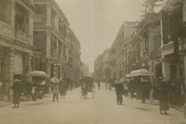 Historical photograph of Queens Road, Hong Kong