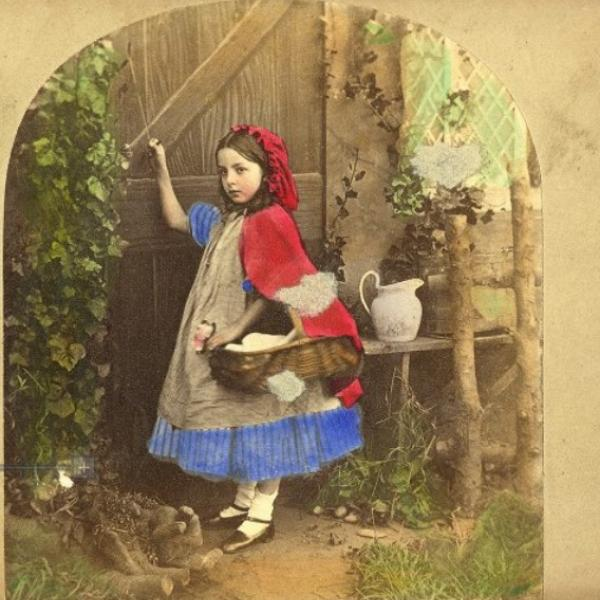 Early Photograph of Little Red Riding Hood