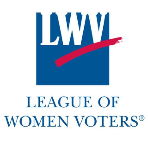League of Women Voters logo.