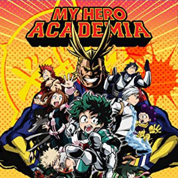 The DVD cover of My Hero Academia