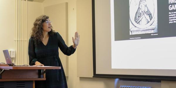 Provost's Fellow Taiko Haessler presents on Medieval Women in Philosophy.
