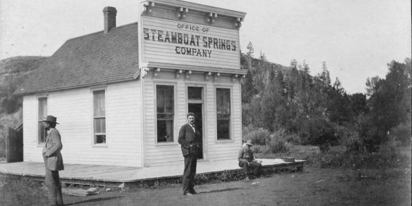 James Crawford outside the Office of Steamboat Springs Town Company