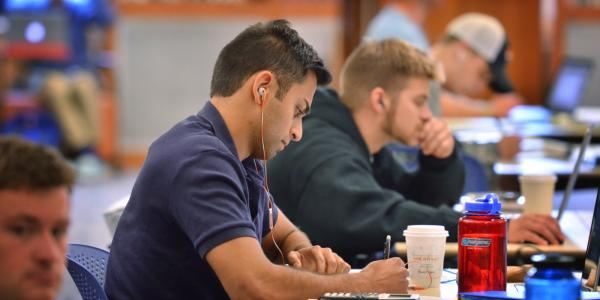 Students studying at the Libraries.