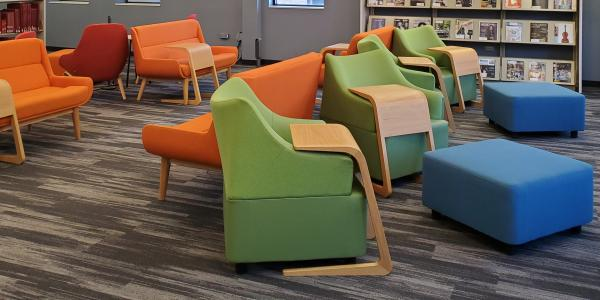 Study spaces in the music library