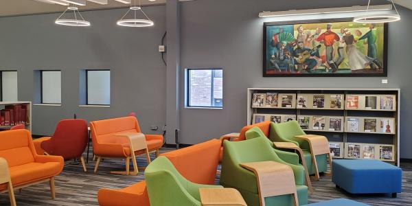 The music library study space