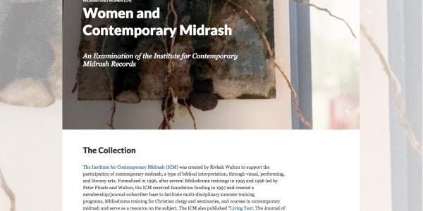 Women and Contemporary Midrash
