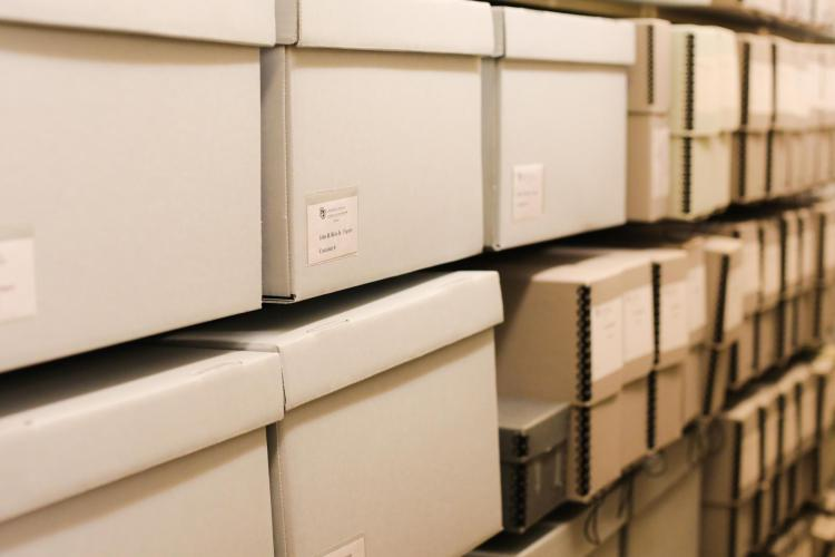 "Rows of ""evidence"" for present and future researchers in the archives."