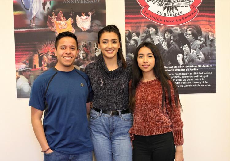 Students Adán García, Ashly Villa-Ortega, and Amairany Casillas-Alcala were the leading curators for the exhibit.