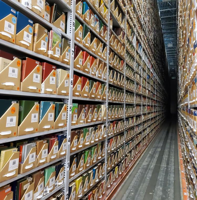 Books in large aisle