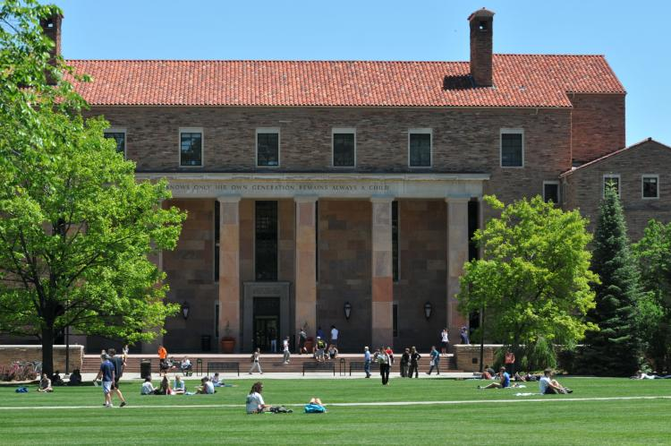 Norlin Library exterior. Photo by Casey Cass.