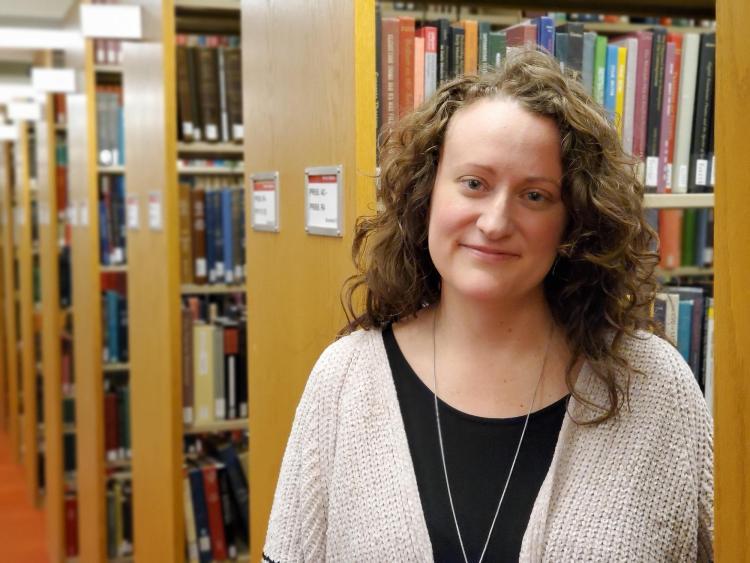Amanda Rybin-Koob in the Literature stacks