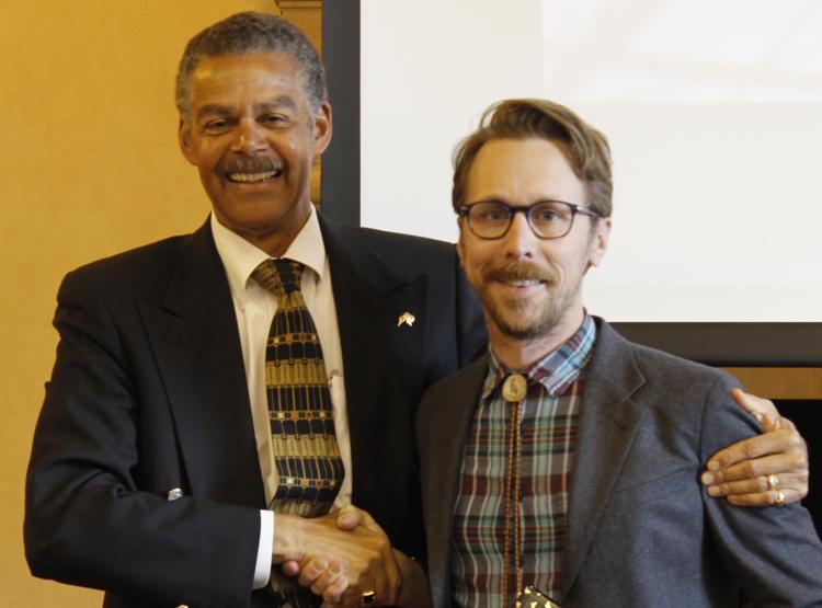 Andrew Johnson receives the Ellsworth award.