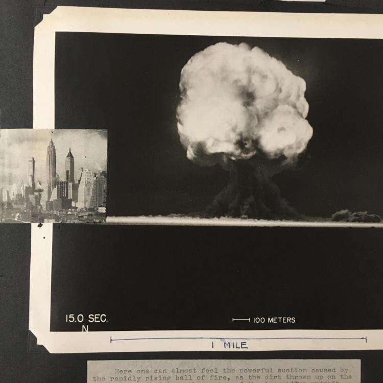 Image of the Trinity Test blast from July 16, 1945