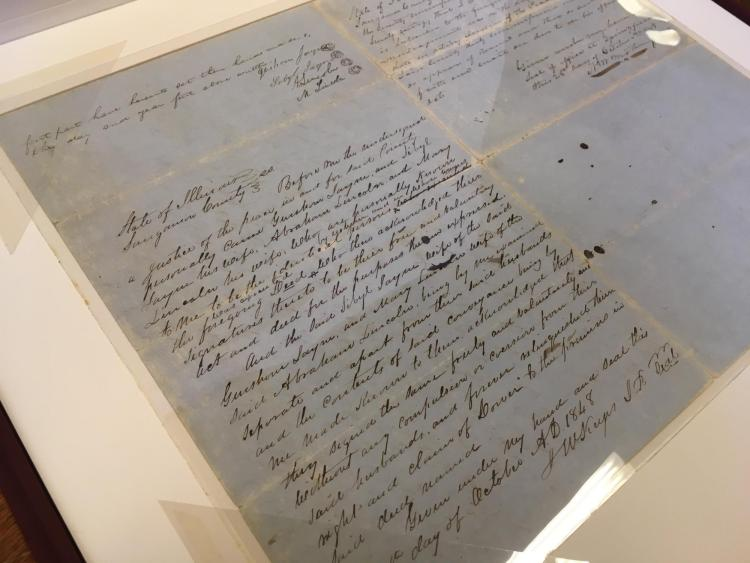 1848 Land Deed signed by Abraham Lincoln and Mary Todd Lincoln