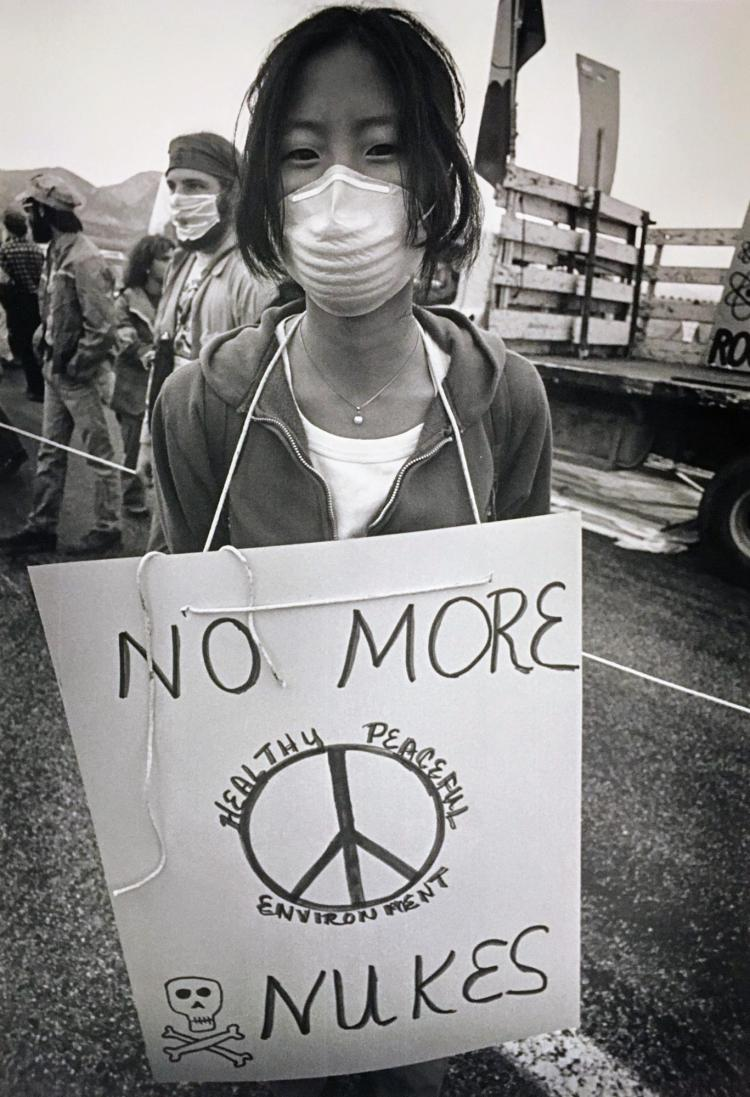 Protester at Rocky Flats, Colorado