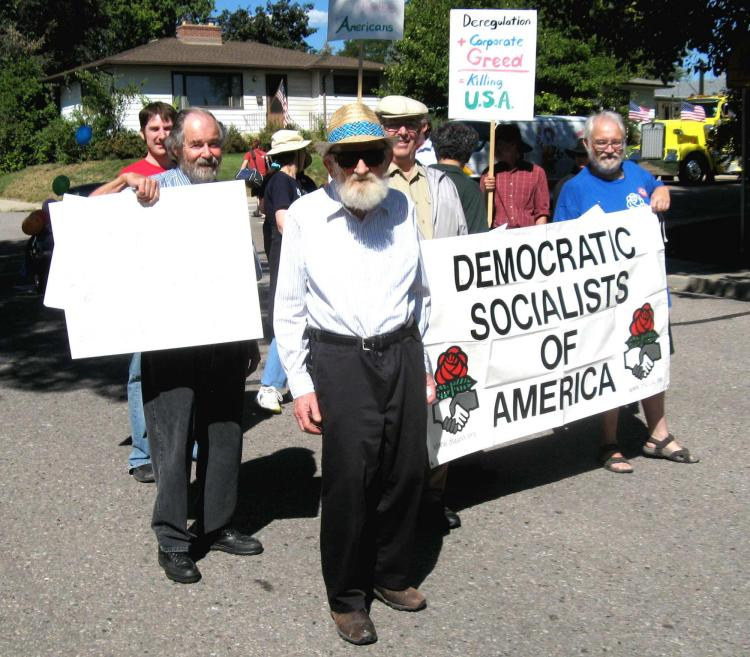 Activists marching in Boulder