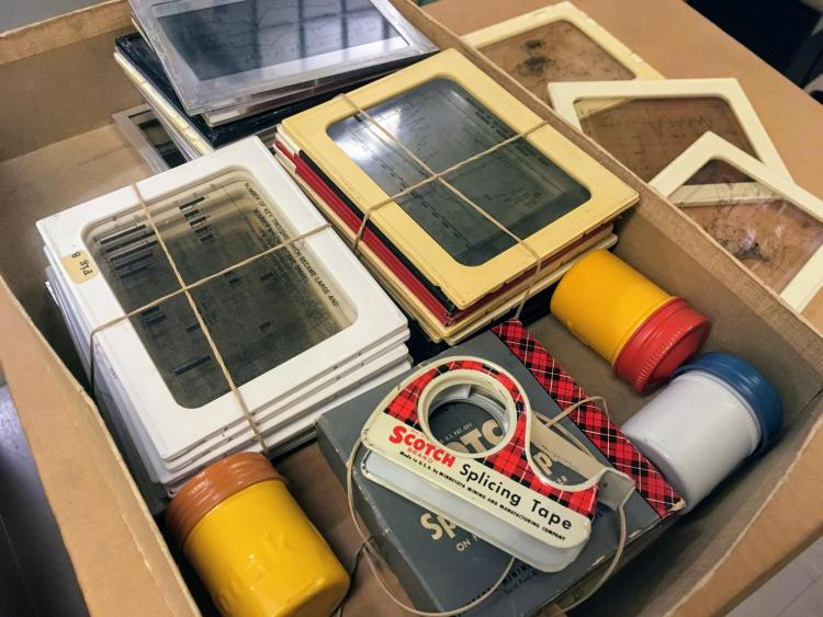 Slides and supplies from Walter Roberts Collection