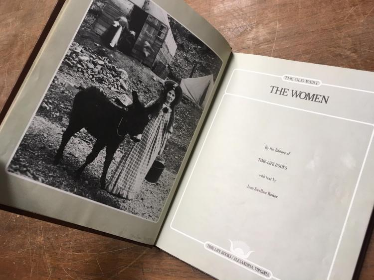 The Time Life book that used Lachlan McLean's photograph of a  pioneer woman