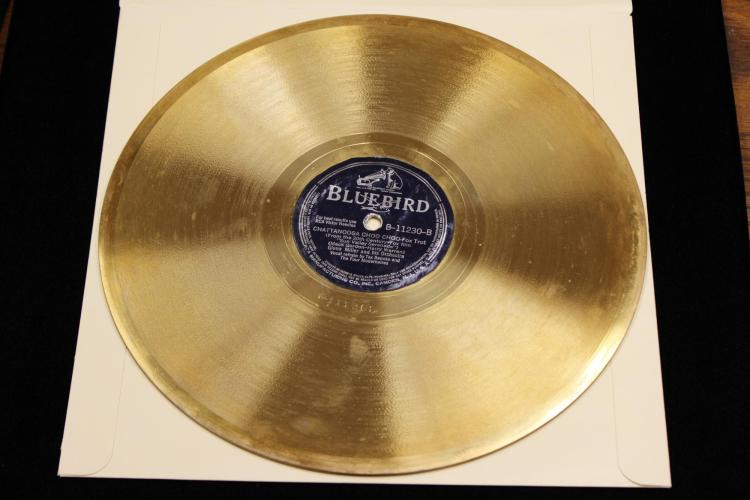 The very first Gold Record ever awarded was in 1941, for Chattanooga Choo Choo.