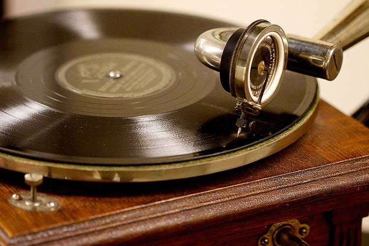 Old-fashioned record player from AMRC