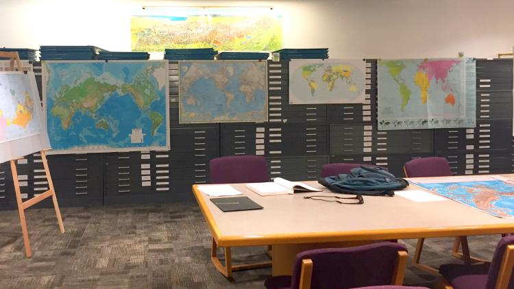 A variety of maps used by middle school students