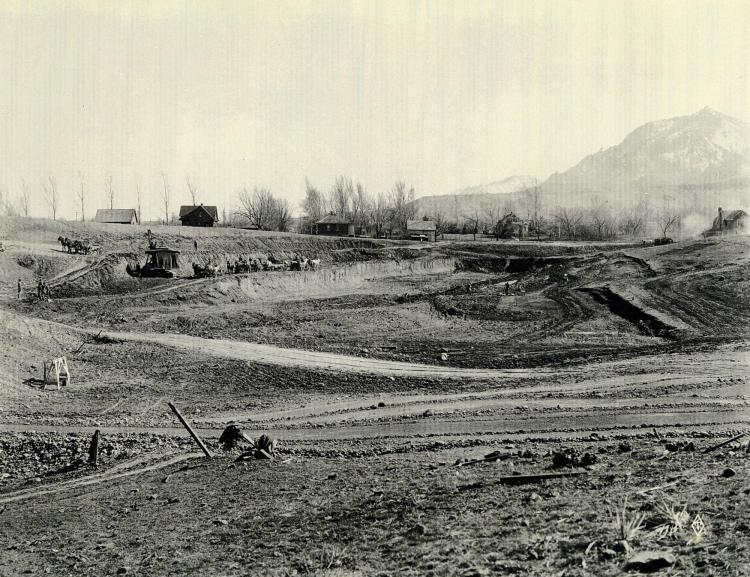 Folsom Field as it was first being built.