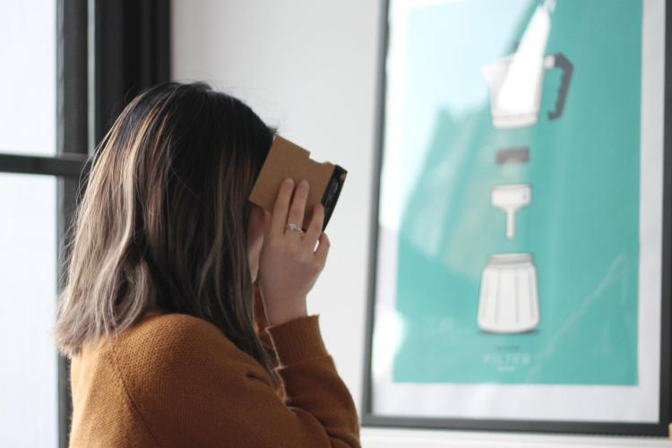 Person using VR technology