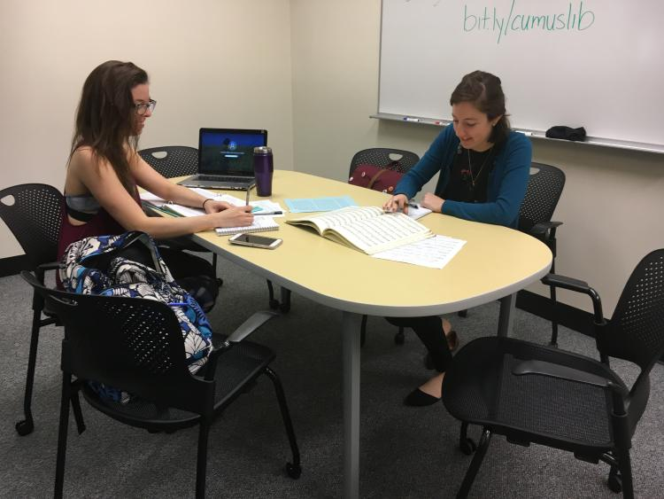 New Group Study Room at the Music Library