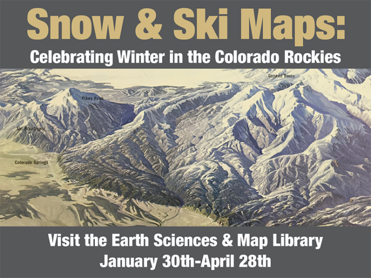 Exhibit Snow And Ski Maps Celebrating Winter In The