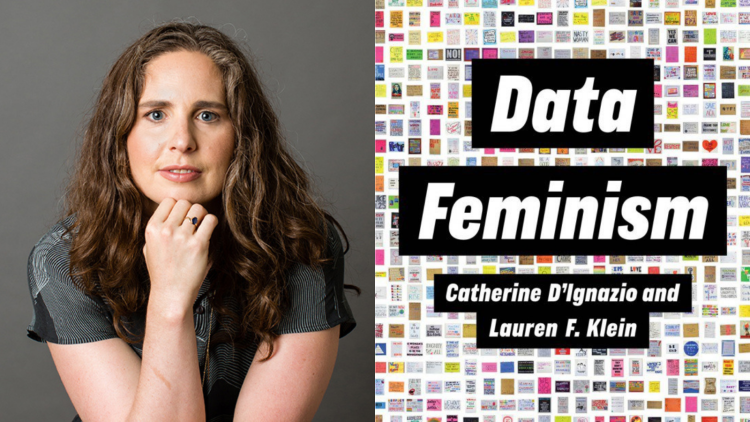 Image of Lauren F. Klein and the book Data Feminism
