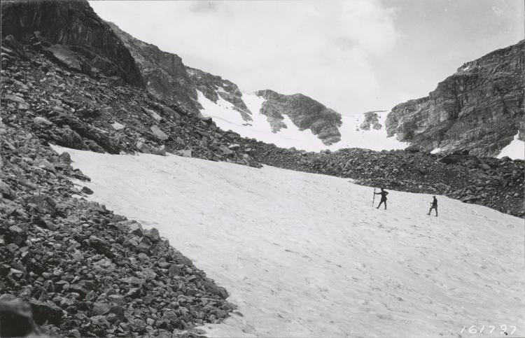 Saint Vrain Glaciers, Colorado, Undated. Photographer unknown. From the U.S. Forest Service.
