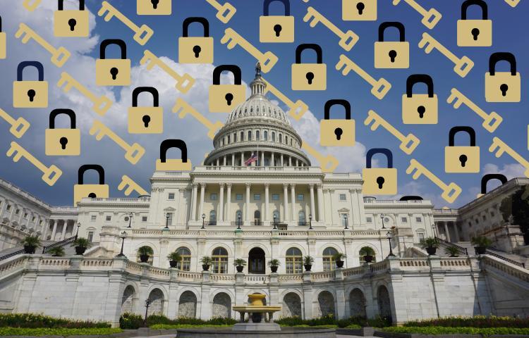 Unlocked U.S. capitol building