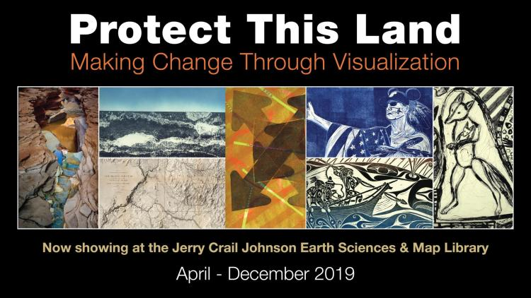 Art samples from the Protect This Land Exhibit