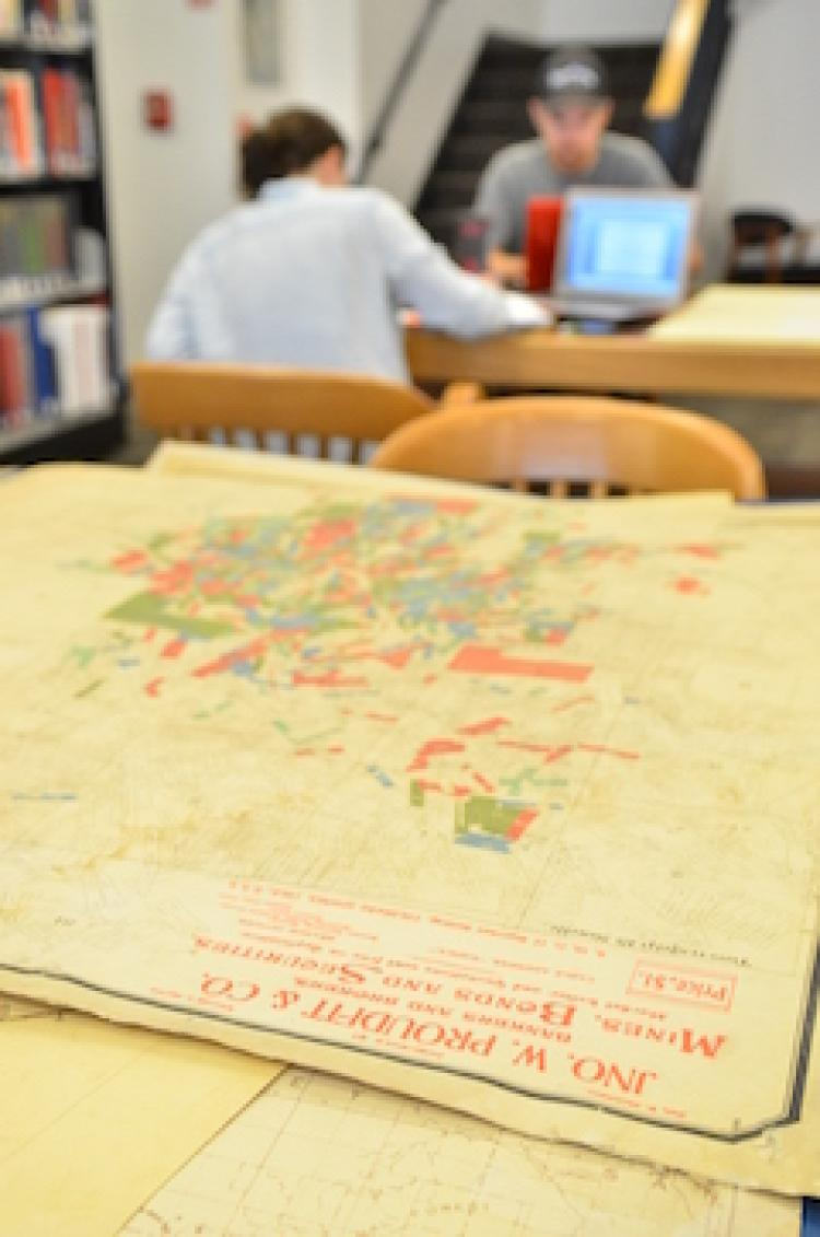 Map in the library