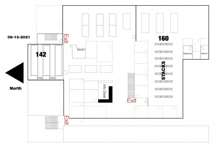 Business Library Floor Plan - Fall 2021