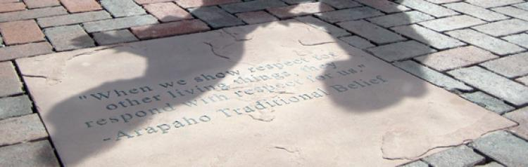 Sundial Plaza quotes etched in stone
