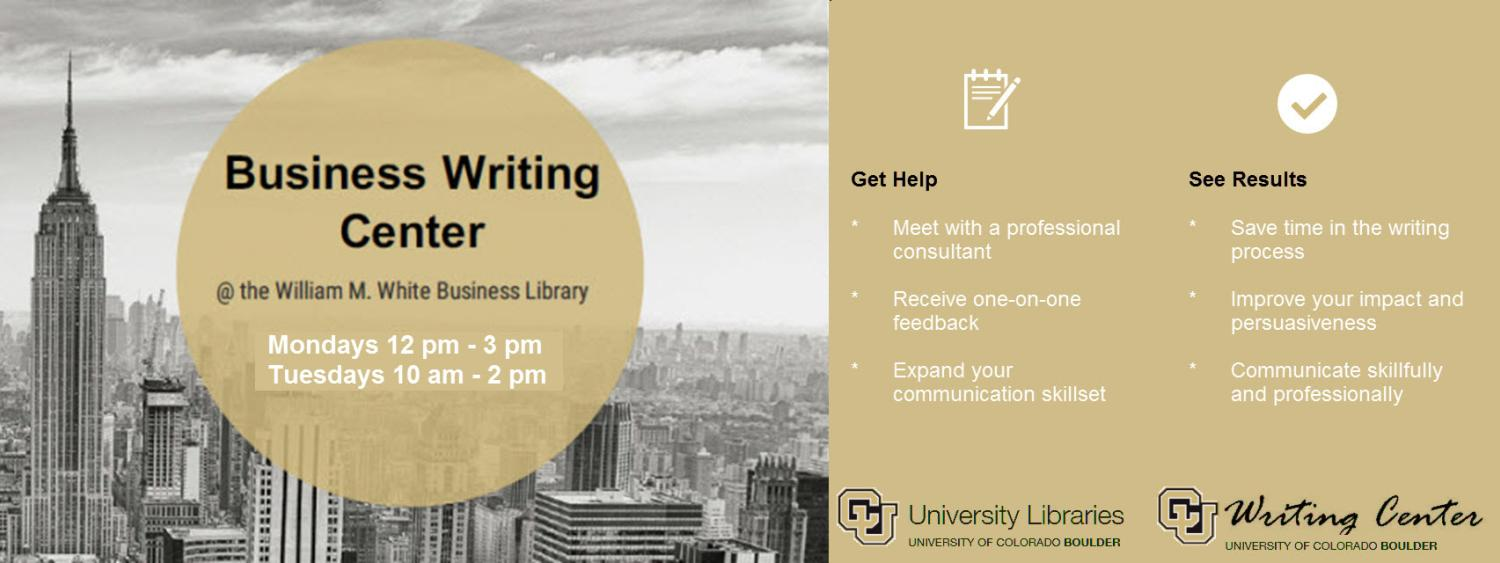 Business Writing Center Promotion