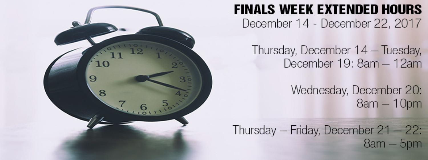 Finals Extended Hours