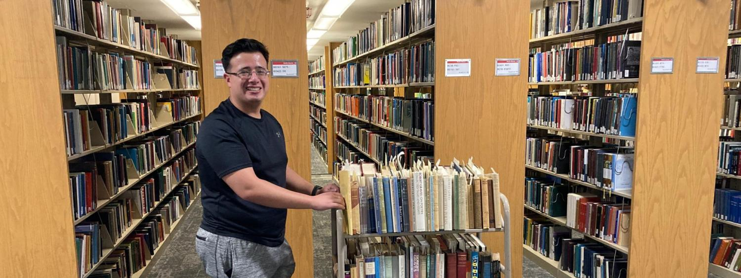 Andrew Nadas is a senior International Affairs major and student assistant with the libraries.