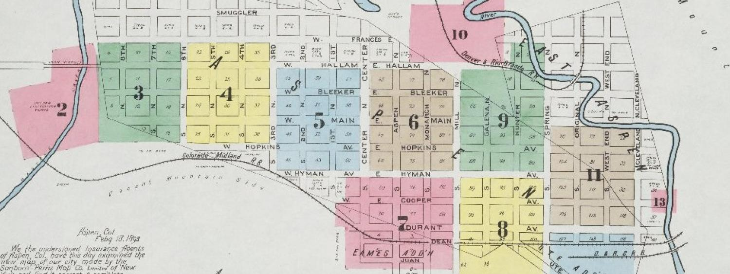 Portion of a historic Sanborn Fire Insurance Map