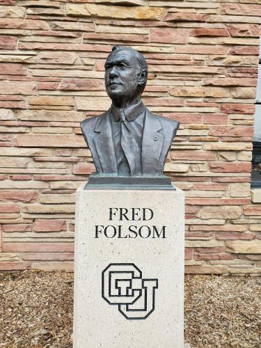 Statue of Fred Folsom.