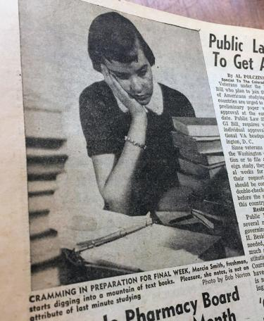 Newspaper clipping from the Colorado Daily in 1950