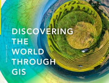 Discover the world through GIS world graphic