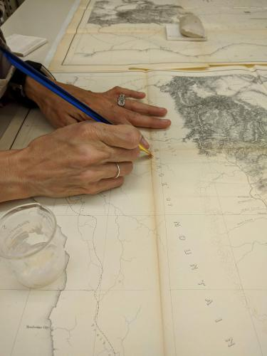Stacey works with maps