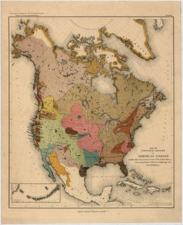 Old map of the American Indians