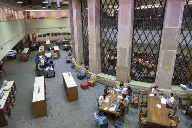 Study area in Norlin Library