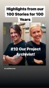 Our project archivist Jane Thaler and Katelyn Morkel