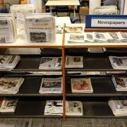 The Libraries newspaper collection in Norlin.