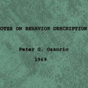 Cover of Peter G. Ossorio's work.